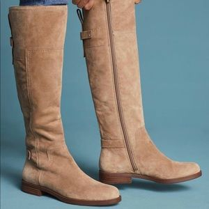 Franco Sarto Coley Suede Tall Riding Boots New